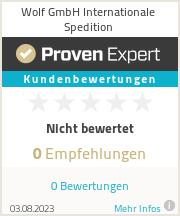 Erfahrungen & Bewertungen zu Wolf GmbH Internationale Spedition