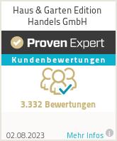 Erfahrungen & Bewertungen zu Haus & Garten Edition Handels GmbH