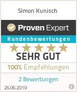 Erfahrungen & Bewertungen zu Simon Kunisch