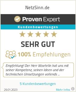 Erfahrungen & Bewertungen zu NetzSinn.de