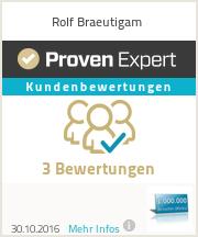 Erfahrungen & Bewertungen zu Rolf Braeutigam