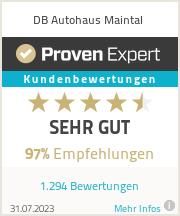 Erfahrungen & Bewertungen zu DB Autohaus Maintal