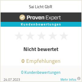 Erfahrungen & Bewertungen zu Sai Licht GbR