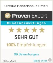 Erfahrungen & Bewertungen zu OPHIRA Handelshaus GmbH