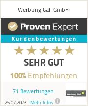 Erfahrungen & Bewertungen zu Werbung Gall GmbH
