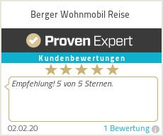 Erfahrungen & Bewertungen zu Berger Wohnmobil Reise