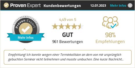 Kundenbewertungen & Erfahrungen zu Fachseminare von Fürstenberg. Mehr Infos anzeigen.