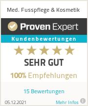 Erfahrungen & Bewertungen zu Med. Fusspflege & Kosmetik
