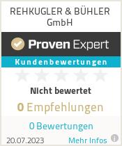 Erfahrungen & Bewertungen zu REHKUGLER & BÜHLER GmbH
