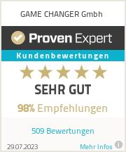 Erfahrungen & Bewertungen zu GAME CHANGER Gmbh