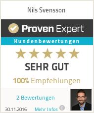 Erfahrungen & Bewertungen zu Nils Svensson