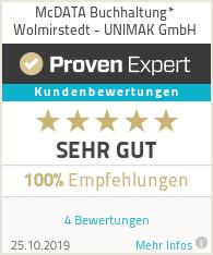 Erfahrungen & Bewertungen zu McDATA Buchhaltung* Wolmirstedt - UNIMAK GmbH