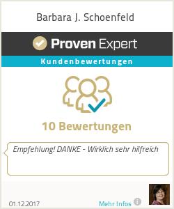 Erfahrungen & Bewertungen zu Barbara J. Schoenfeld