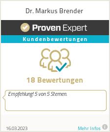 Erfahrungen & Bewertungen zu Dr. Markus Brender