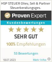 Erfahrungen & Bewertungen zu HSP STEUER Oliev, Sell & Partner Steuerberatungsges.