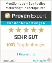 Erfahrungen & Bewertungen zu MeetSpirit.de - Spirituelles Marketing für Therapeuten