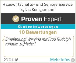 Erfahrungen & Bewertungen zu Hauswirtschafts- und Seniorenservice Sylvia Königsmann