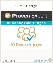 Erfahrungen & Bewertungen zu GAMR. Energy