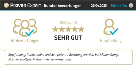 Kundenbewertungen & Erfahrungen zu Müller & Partner Versicherungsmakler GmbH. Mehr Infos anzeigen.