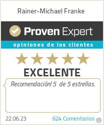 Ratings & reviews for Rainer-Michael Franke