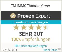 Erfahrungen & Bewertungen zu TM IMMO Thomas Meyer