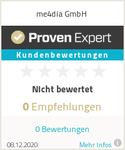 Experiences & ratings for me4dia GmbH
