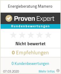 Erfahrungen & Bewertungen zu Energieberatung Mamero
