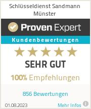 Erfahrungen & Bewertungen zu Schlüsseldienst Sandmann Münster