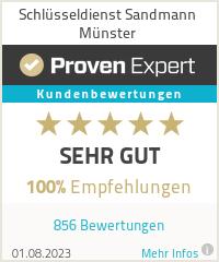 Bewertungen zu Schlüsseldienst Sandmann Münster
