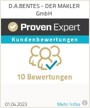 Erfahrungen & Bewertungen zu D.A.BENTES - DER MAKLER GmbH