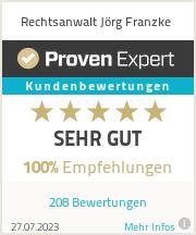 Erfahrungen & Bewertungen zu Rechtsanwalt Jörg Franzke