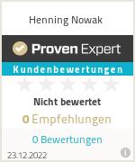 Erfahrungen & Bewertungen zu Henning Nowak