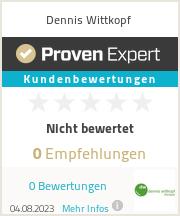 Erfahrungen & Bewertungen zu Dennis Wittkopf