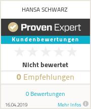 Erfahrungen & Bewertungen zu HANSA SCHWARZ
