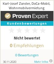 Erfahrungen & Bewertungen zu Karl-Josef Zander, DoCa-Mobil, Wohnmobilvermietung