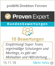 Erfahrungen & Bewertungen zu proWIN Direktion Fennen