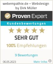 Erfahrungen & Bewertungen zu webEmpathie.de