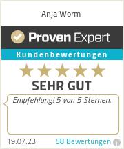 Erfahrungen & Bewertungen zu Anja Worm