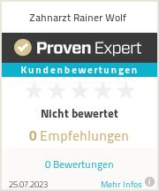 Erfahrungen & Bewertungen zu Zahnarzt Rainer Wolf
