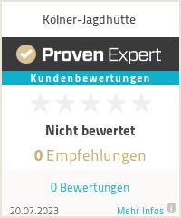 Erfahrungen & Bewertungen zu Kölner Jagdhütte