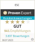 Erfahrungen & Bewertungen zu ESC