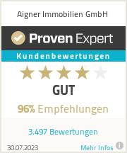 Erfahrungen & Bewertungen zu Aigner Immobilien GmbH