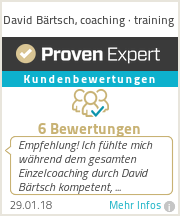 Erfahrungen & Bewertungen zu David Bärtsch, coaching · training