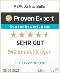 Erfahrungen & Bewertungen zu ABACUS Nachhilfe