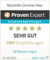 Erfahrungen & Bewertungen zu Nachhilfe Christian Klee