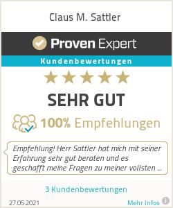 Erfahrungen & Bewertungen zu Claus M. Sattler