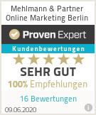 Erfahrungen & Bewertungen zu Mehlmann & Partner Online Marketing Berlin