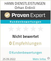 Erfahrungen & Bewertungen zu HANN DIENSTLEISTUNGEN Orhan Erdinli