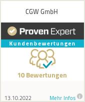 Erfahrungen & Bewertungen zu CGW GmbH