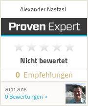 Erfahrungen & Bewertungen zu Alexander Nastasi